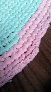 T-Shirt Yarn rug - finishing