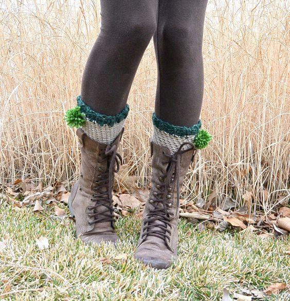 Mama in a Stitch - Shamrock boot cuffs