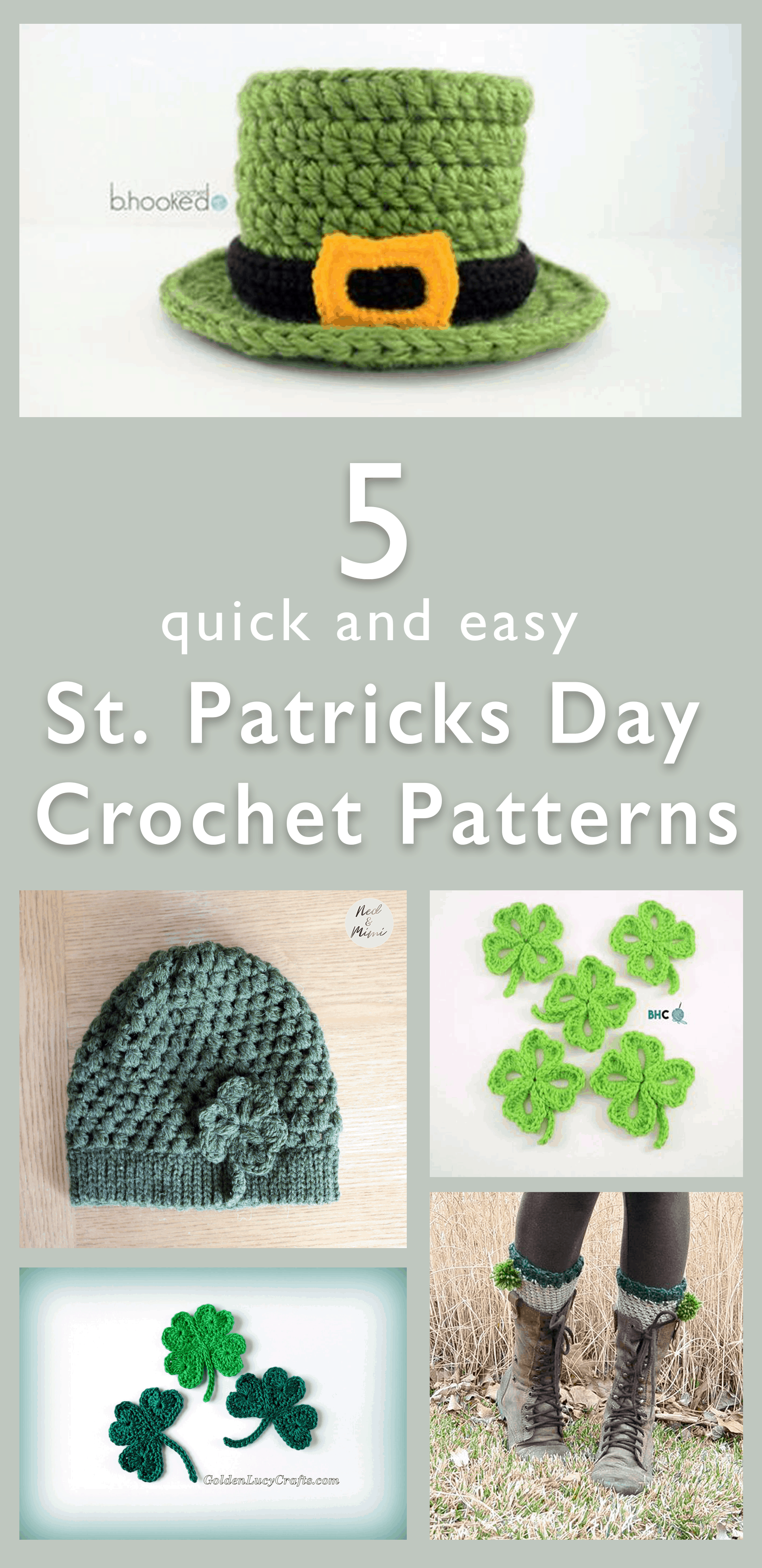 5 quick and easy st. patrick's day crochet patterns