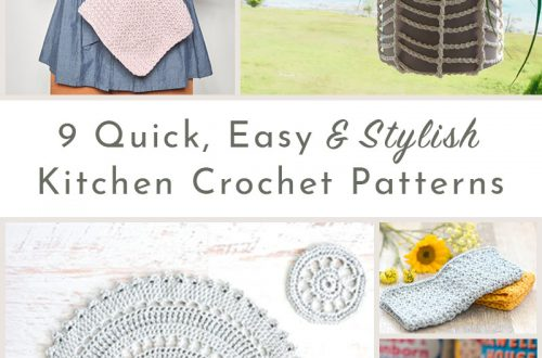 9 kitchen crochet patterns roundup