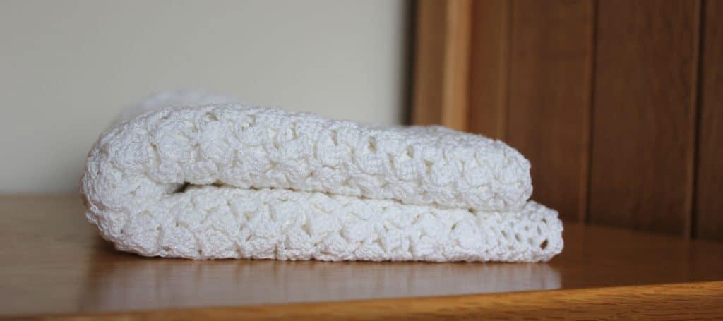 Folded heirloom blanket