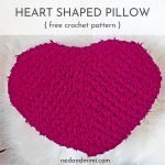 Crochet Heart Shaped Pillow