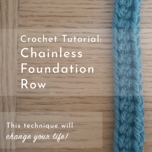 chainless foundation crochet row