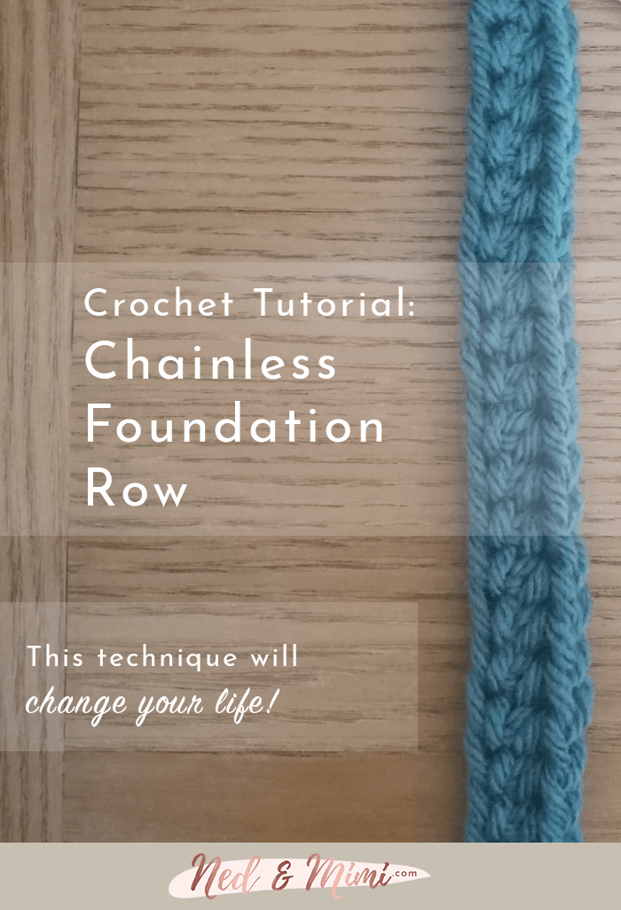 chainless foundation crochet row