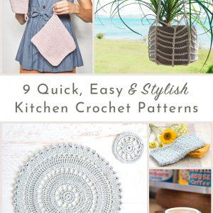 9 kitchen crochet patterns roundup