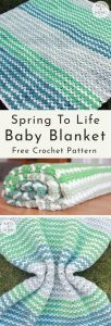 Spring to Life crochet baby blanket