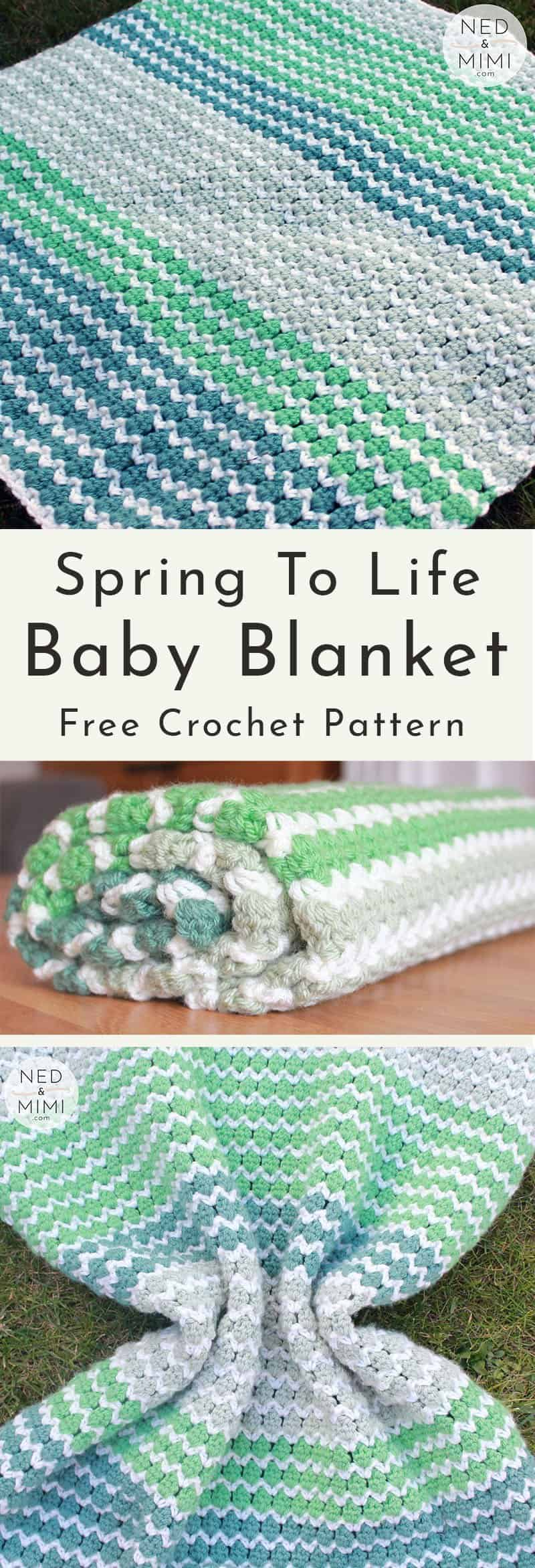 Spring To Life Crochet Baby Blanket (Free Pattern) | Ned & Mimi