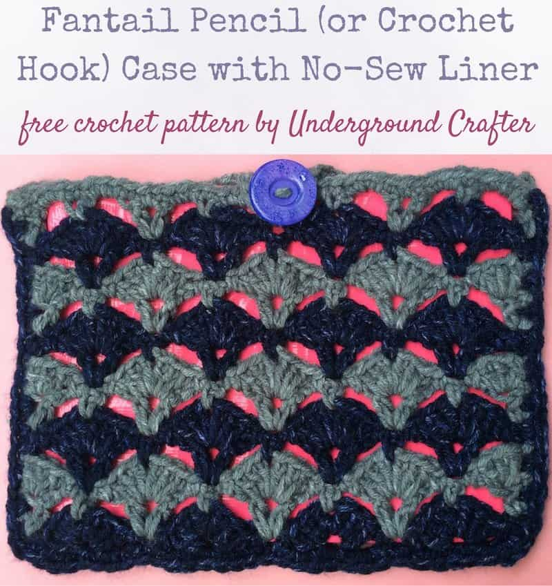 Fantail Pencil Case by Marie @ Underground Crafter