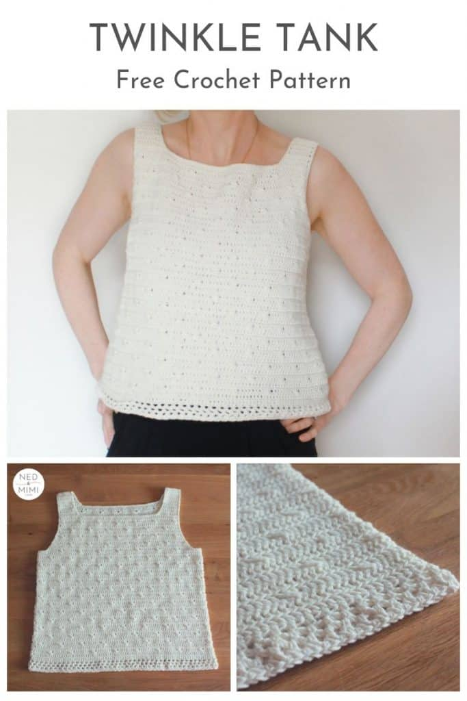 Twinkle Tank Top | Crochet pattern by Ned & Mimi