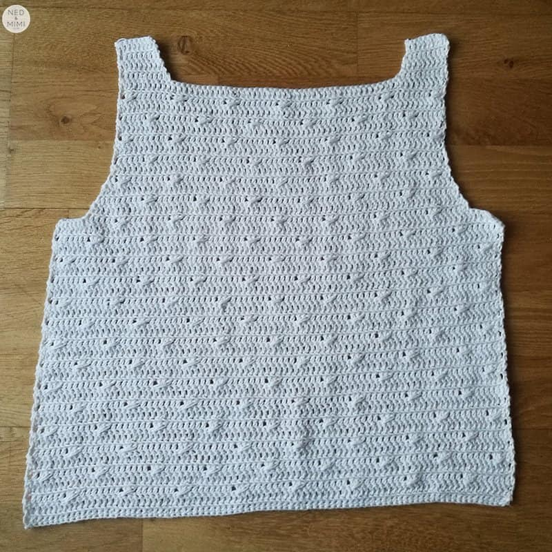 cotton top back before seaming