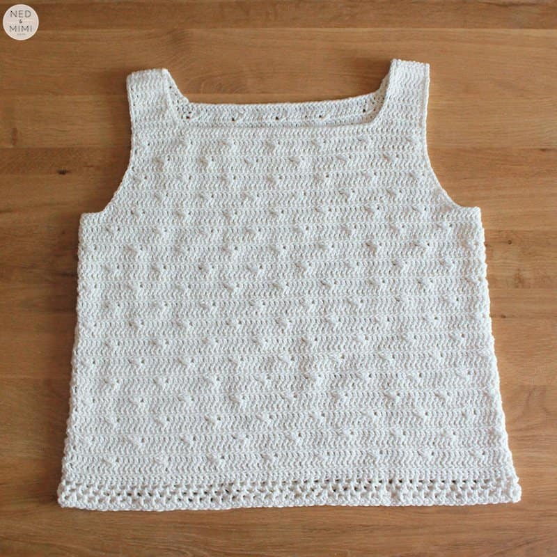 Crochet cotton top flat