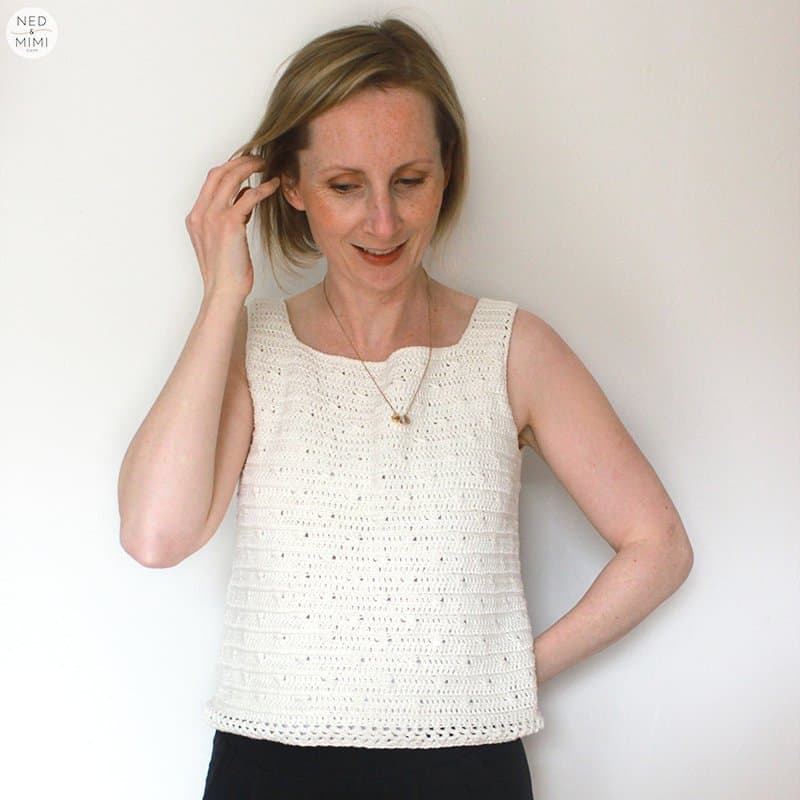Crochet cotton top front
