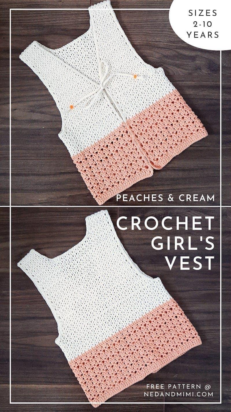 Peaches & Cream Girl's Vest