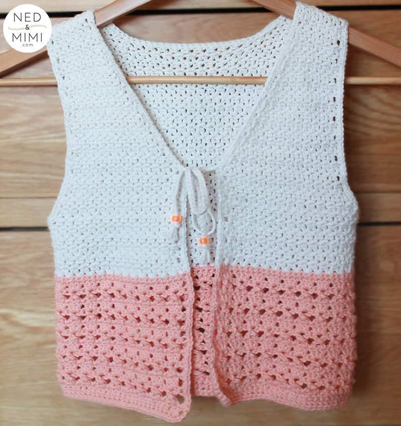 Crochet vest front view | Ned & Mimi