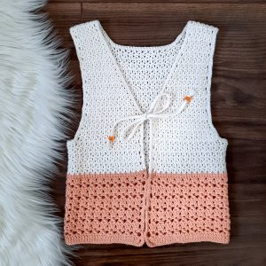 Crochet Girls Vest Pattern / Ned & Mimi