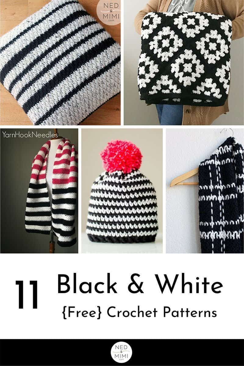 Black and White Crochet Patterns