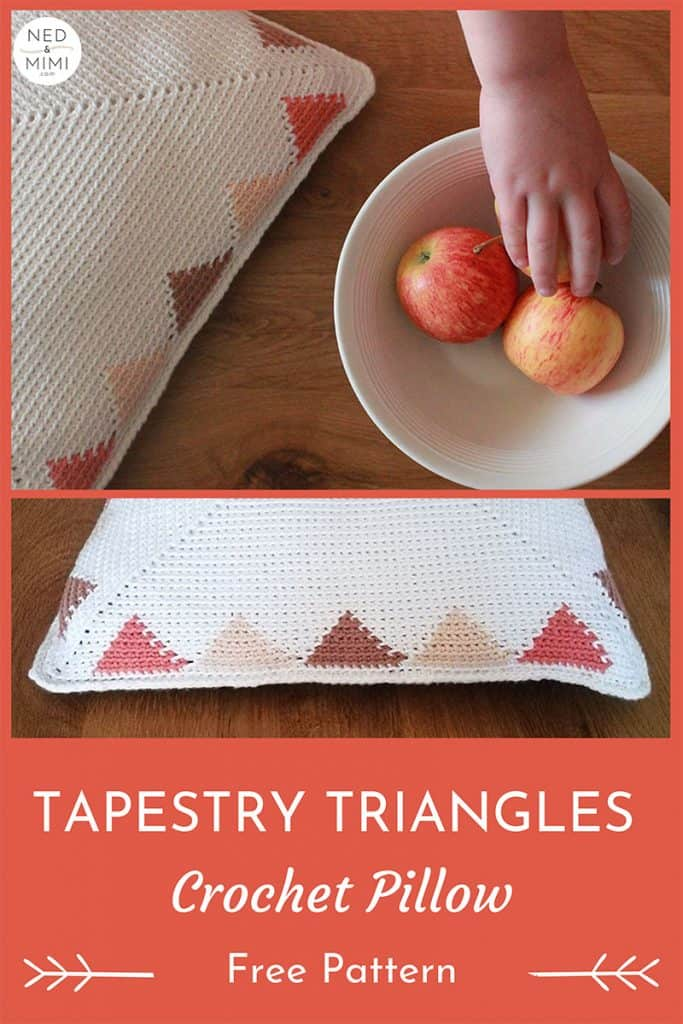 Tapestry Triangles Pillow Crochet Pattern