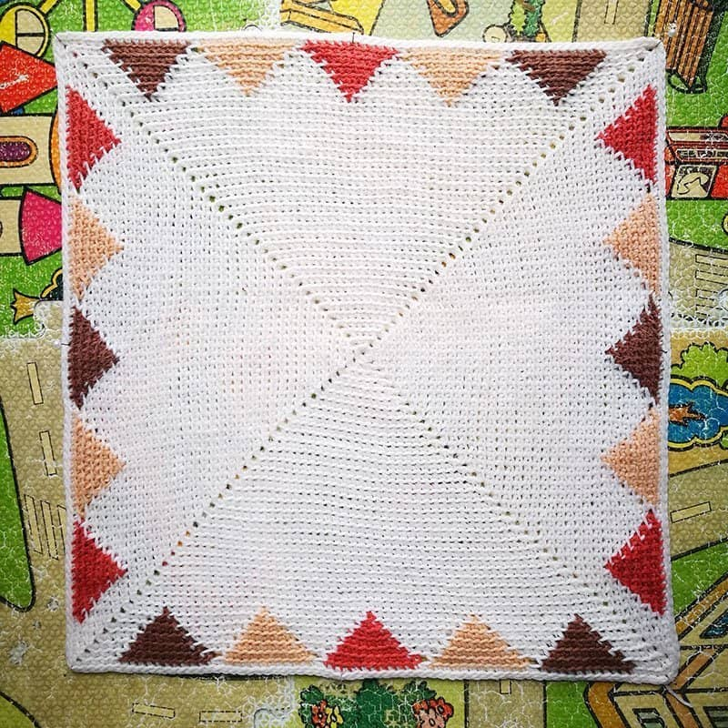 Crochet panel blocking