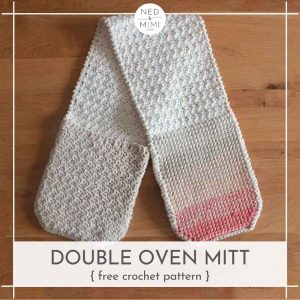 Double Double Oven Mitt crochet pattern