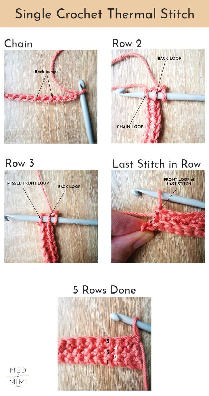 Thermal Single Crochet Steps