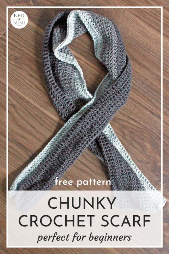 Chunky Crochet Scarf by Ned & Mimi