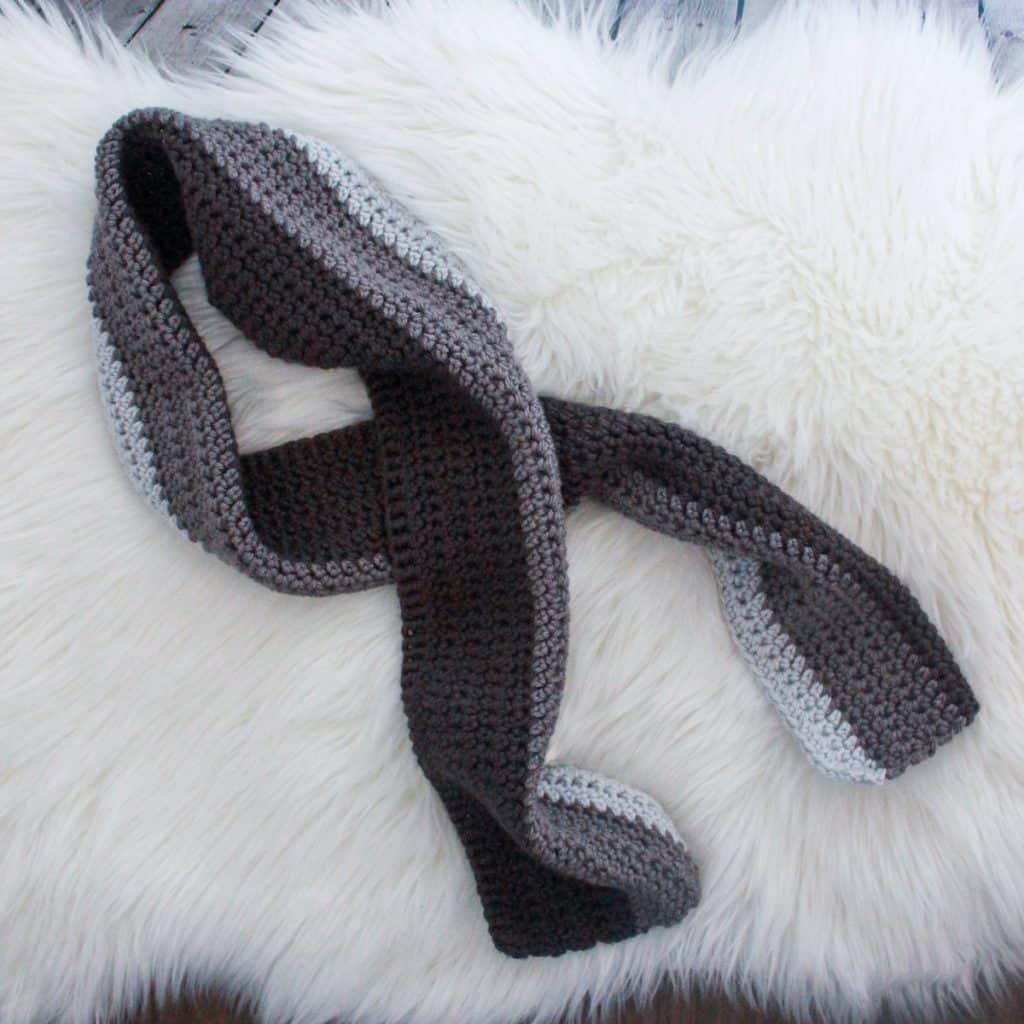Chunky Crochet Scarf (Grey)