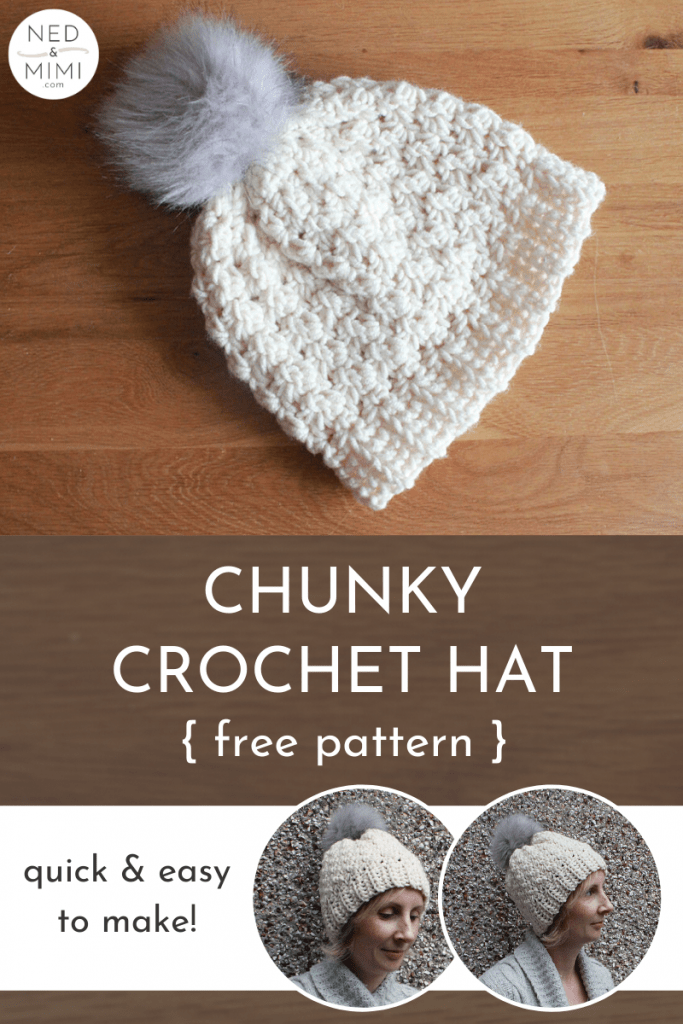 Chunky Crochet hat collage