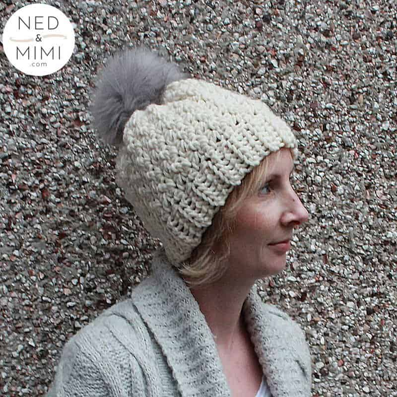 Chunky Crochet Hat worn by girl