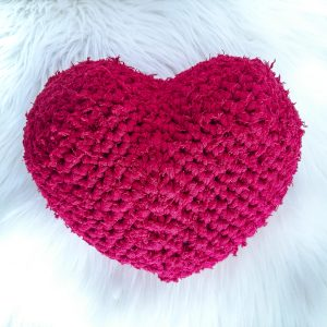 Easy Crochet Heart Pillow - Free Pattern