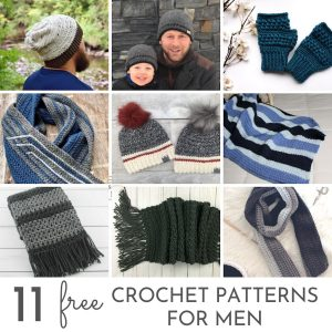 Crochet Patterns for Men Collage
