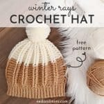 Winter Rays Ribbed Crochet Hat with caption