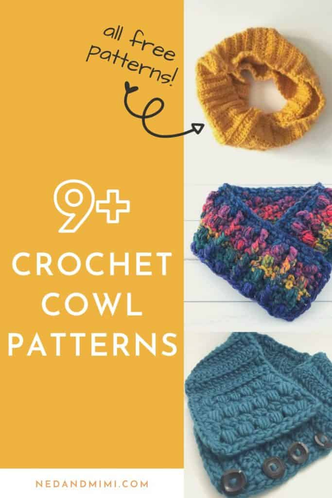 Crochet Cowl Patterns Collage