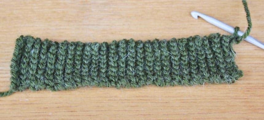 Sl st crochet ribbing