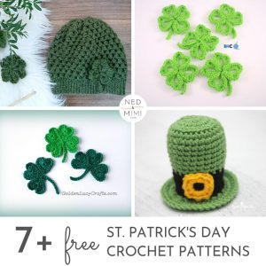 St. Patrick's Day Crochet Pattern collage + caption