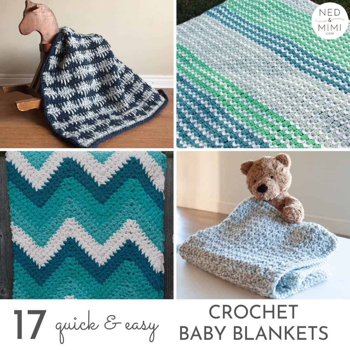 17 Quick Easy Crochet Baby Blanket Patterns Ned Mimi