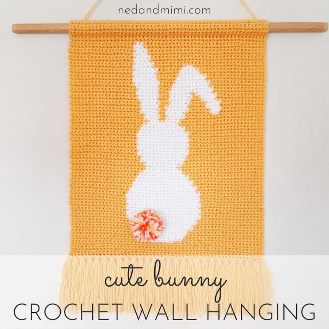 Bunny Crochet Wall Hanging