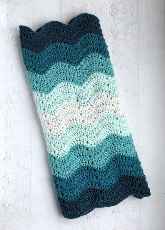 Striped Thicket Stitch Blanket by Ashley @ The Loopy Lamb