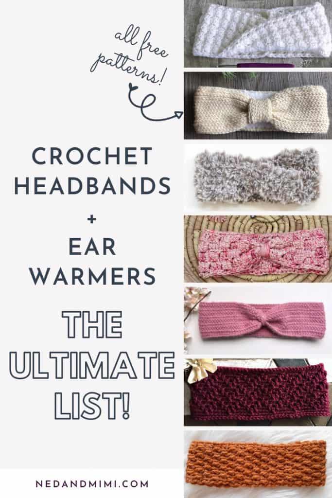 Crochet Ear Warmer Collage