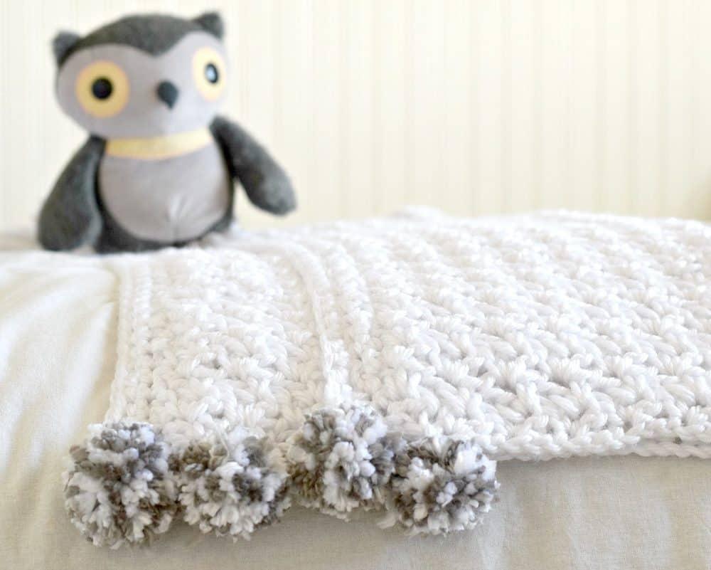 The Loft Pom Baby Blanket by Jessica @ Mama in a Stitch