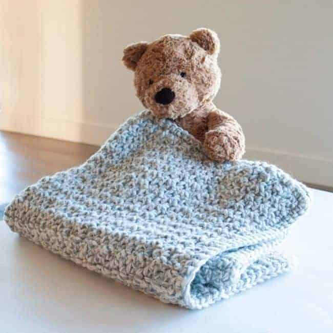 Quick & Chunky Baby Blanket by Suzanne @ Crafting Each Day