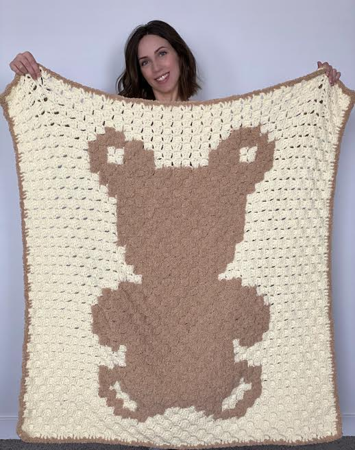 Teddy Bear Blanket by Rachel @ Evelyn & Peter Crochet
