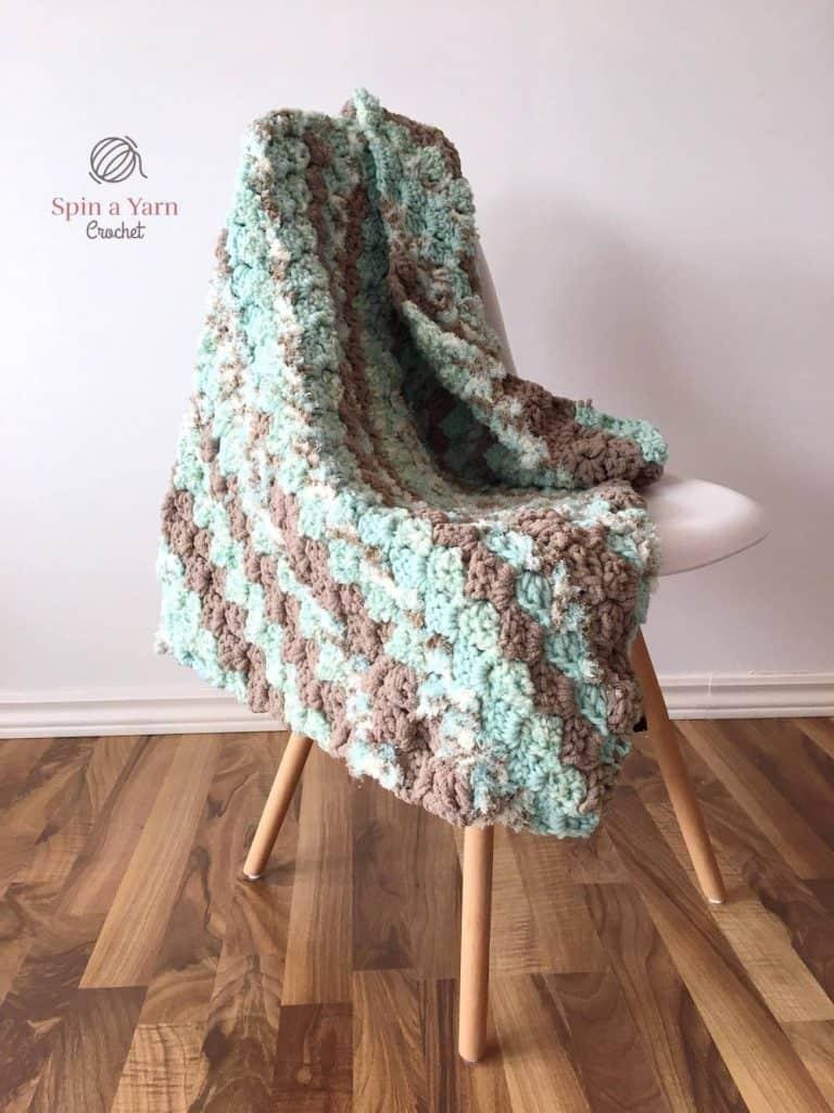 Beachy Waves Throw by Jillian @ Spin a Yarn Crochet