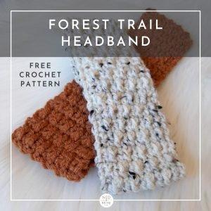 Forest Trails Crochet Headband (Rust & Off-White)