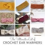 Crochet Ear Warmer Collage