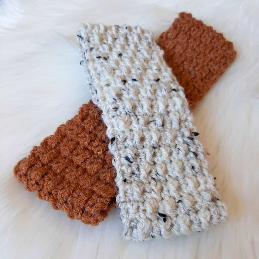 Forest Trails Crochet Headband (Rust & Off-White)