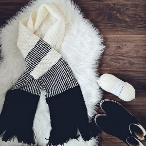 Black & White Scarf + Boots