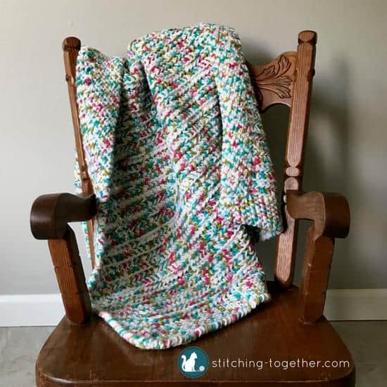 Sprinkles Easy Crochet Baby Blanket by Jessica @ Stitching Together