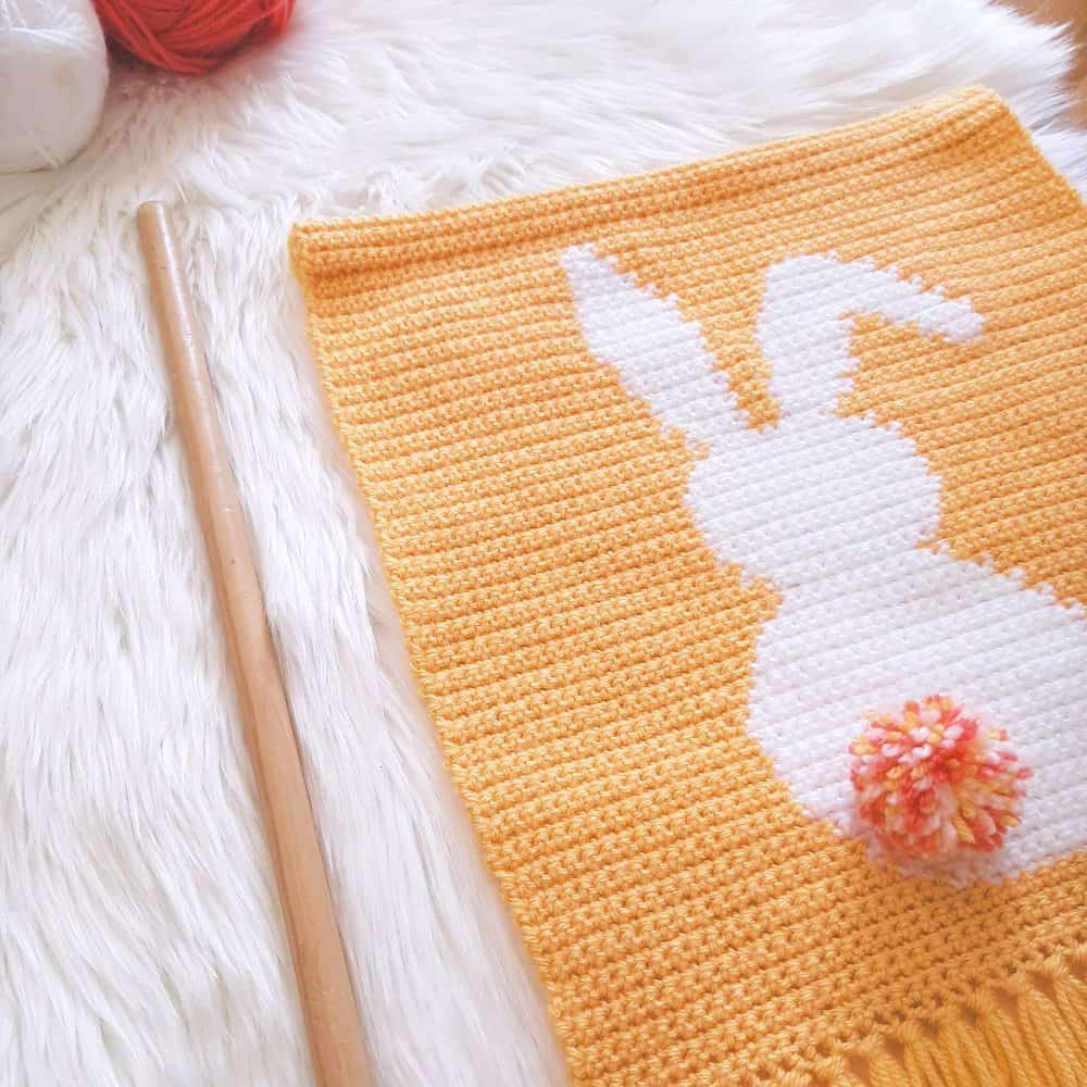 Bunny Wall Hanging in progress