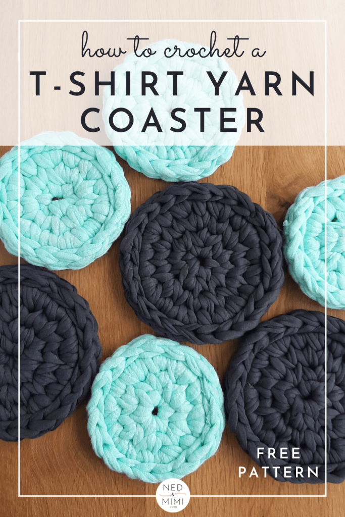 Crochet Coasters (mint green and grey)