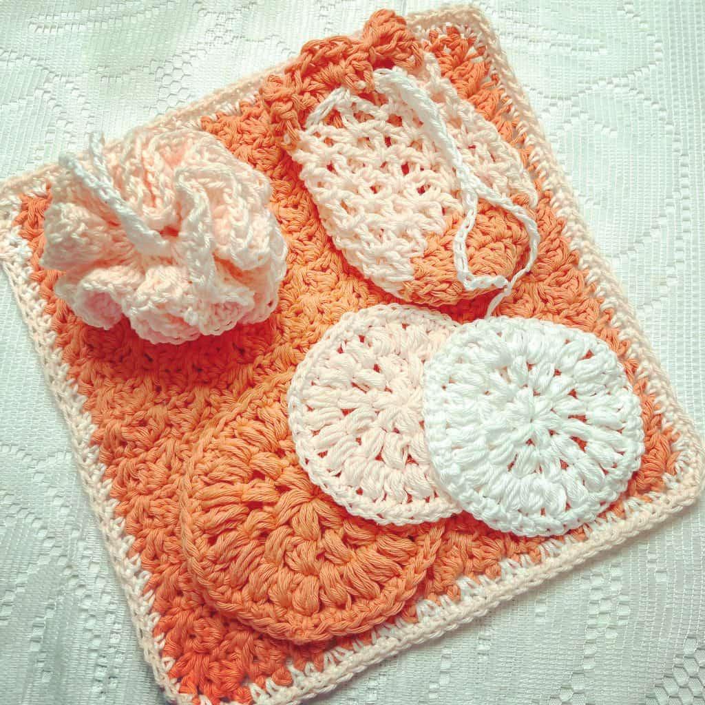 Farmhouse Spa Set by Sunflower Cottage Crochet